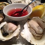 BC Read Island Oysters with raspberry mignonette
