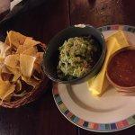 Guacamole and chipotle salsa