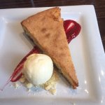 Bakewell tart with clotted cream ice cream