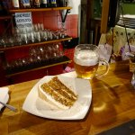 Carrot Cake and a pint!