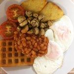 Vegetarian breakfast at Cornerways Guest House