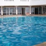 Clean nice pool... and not that dangerous as ocean ;)