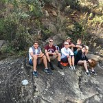 Having a rest after the boulder hopping.