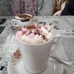Hot chocolate with mini-marshmallows