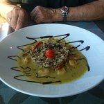 room service au top (riz sauvage /crevettes au curry)