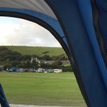 Views from our tent, plot 137 middle field