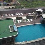 Vista de piscina desde suite