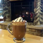 Cozy up by the fire with one of our delicious mocha's!