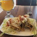 Hard shell tacos and beer