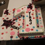 Beautiful and Yummy cake by Chef Toofan Singh (A big thanks)