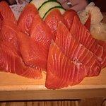 Amazing salmon sashimi