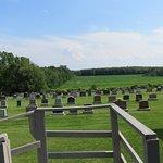 Il cimitero circostante