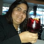 Can't enjoy dinner without a glass of sangria!