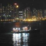 Hong Hong harbour by night