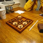 Tic-Tac-Toe at the table
