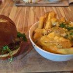 Beacon Burger with poutine