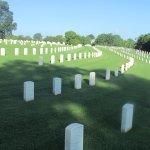 View of Civil war burials