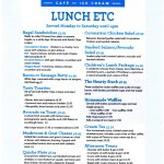 Fitzcanes Lunch Menu August 2017