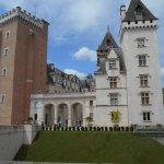Photo prise depuis le train 5 - Château de Pau arrivée du train.