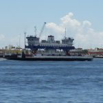 Ferry passing by in opposite direction