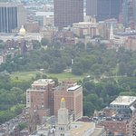 Boston Common as seen from the Prudential Tower