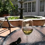 Wine in the couryard