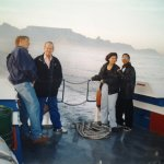 ...on our way to Robben Island! In the former days you had to take the old real Ships