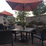 Lovely patio to eat breakfast or for happy hour.