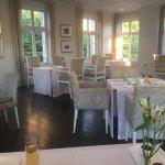 Elegant dining room for breakfast