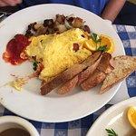 Spring veggie omelet