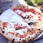 Tomato, basil, cheese pizza