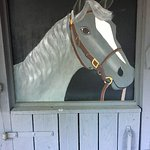 A painted horse, part of the quirky charm of the Inne.