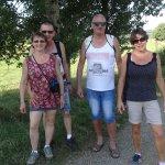 Balade pour la visite de la ferme aux autruches