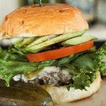 All our burgers are 1/2 Pounders, local beef, prime, grass fed and hormone free