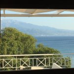 Looking across the suite's covered veranda to the Gulf of Corinth!