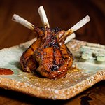 Lamb cutlets with korean spices and sesame cucumber