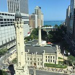 Chicago's historic water tower from our window on the 14th floor.