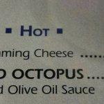 The menu item that I had.