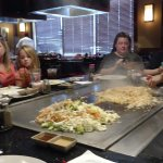 View from our seat .,. of the Hibachi table
