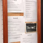 Menu board - a little hard to read, but lots of choices.