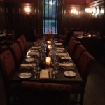 One of the elegant dining rooms