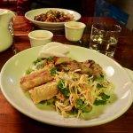 Lemongrass Chicken with Spring Rolls & Fresh, Crisp Salad