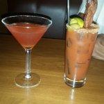 Sex and the City Martini and a Blackfinn Bacon Mary