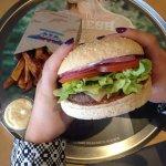 C n Cheese burger with Kumara fries