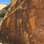 petroglyphs along the way to the water