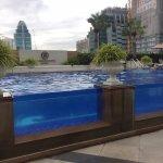 The pool is kept very clean
