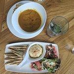 Pumpkin Soup & Hummus platter - Loved every bit of it!