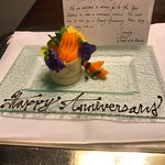 Anniversary treat when we returned first night - Well done!