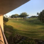 """""""Partial Ocean View"""" from our lanai (room 2219) North Tower"""