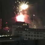 Fireworks in Tivoli Gardens from our suite
